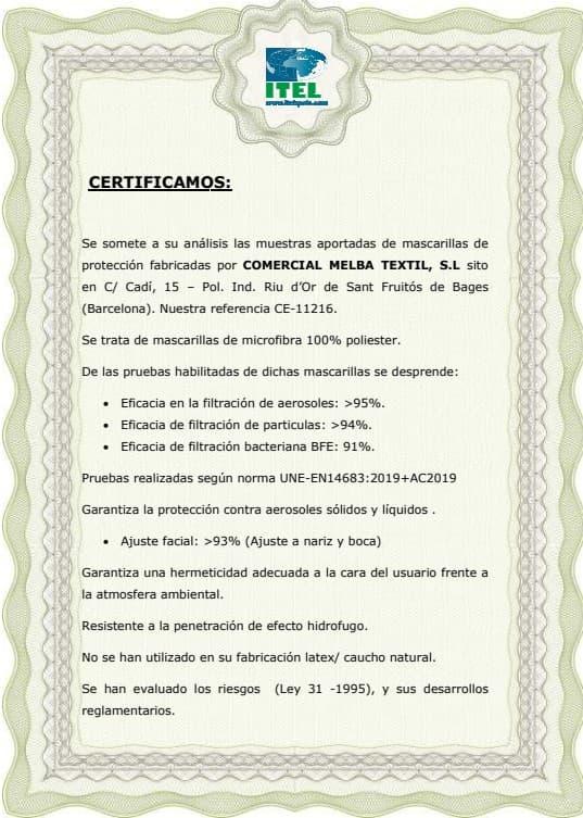 certificacion comercial melba